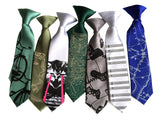 Dinosaur Bones kids tie. Boys clip-on necktie.