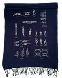 navy sailing knots scarf