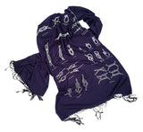 navy blue knot tying diagram scarf
