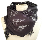 charcoal grey sailor knots scarf