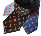 Tiny Koi Print Neckties. Goldfish Pattern Ties by Cyberoptix