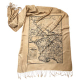 Los Angeles Map Print Pashmina Scarf. Hollywood Gifts, by Cyberoptix