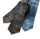 Vintage LA Map Print Necktie, Accessories for Men, by Cyberoptix