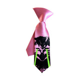 Hot pink laser kitten kids tie