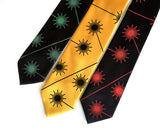 Laser Hazard Sign neckties