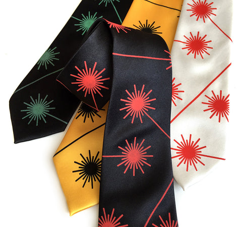 Laser Radiation Warning Necktie