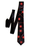Red Laser radiation necktie