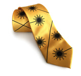 Yellow Laser Radiation Warning Sign necktie