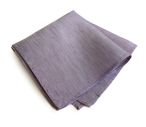 Lavender Linen Pocket Square. Solid Color, Purple Gang