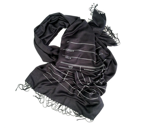 Library Due Date Pashmina Scarf