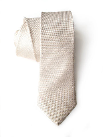 Light Khaki Linen Necktie. Solid Color Tie, Davison
