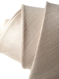 "Light Khaki Silk Linen Blend Necktie, ""Davison"" by Cyberoptix"