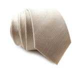 "Light Khaki Linen Blend Necktie, ""Davison"" by Cyberoptix"