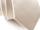 "Texture of Light Khaki Linen Necktie, ""Davison"" by Cyberoptix"