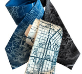 Los Angeles Street Map Necktie. West Coast Print, by Cyberoptix
