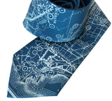Vintage California Map Necktie. Hollywood Gifts, by Cyberoptix
