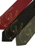Gold ink on burgundy, black, olive microfiber.
