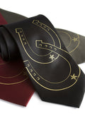 Gold ink on black, burgundy, olive microfiber.