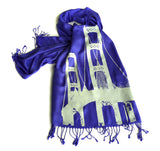 Ice on cobalt pashmina