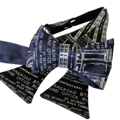 Blueprint Bow Tie, MCS Detroit Train Station Tie