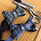 Michigan Central Depot Blueprint Bow Tie, Detroit Tunnel Company, by Cyberoptix
