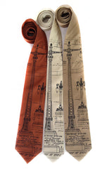 Blueprint Necktie: Detroit Train Station Ironwork Detail