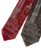 Detroit Train Station Ironwork neckties