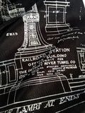 Michigan Central Station Blueprint Scarf
