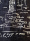 Blueprint Silk Scarf: Detroit's Train Station Ironwork.
