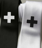 black and white medic ties