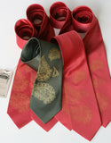 Custom wedding set - gold ink on charcoal, red.