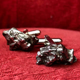 Meteorite Cufflinks. Space Enthusiast Cuff Links, Campo Del Cielo. Cyberoptix