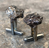 Meteorite Cufflinks. Space Rock Cuff Links, Campo Del Cielo