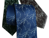 Michigan State Print Silk Neckties, by Cyberoptix