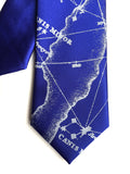 Royal blue star chart kids tie.