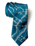 French blue Milky Way Galaxy Necktie