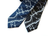 Star chart herringbone silk neckties
