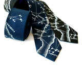 Milky Way Galaxy herringbone silk necktie