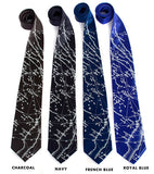 star chart print neckties