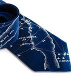 French Blue Milky Way men's necktie.