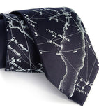 navy blue star chart necktie