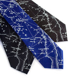 Blue star chart neckties.