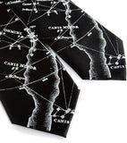 Milky Way Star Chart Neckties, black.