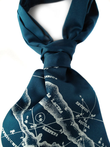 Milky Way Cravat tie. Galaxy Print Ascot