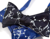 Milky Way Galaxy bow ties: navy blue & royal blue.