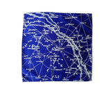Milky Way Galaxy pocket square: royal blue.