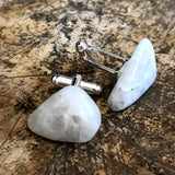 Moonstone Cufflinks. Iridescent stone cufflinks