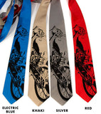 Motorcycle Neckties, black print.