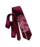 Custom color Aspen necktie: Radiant orchid on spiced wine