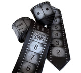Movie Film Countdown necktie. Academy Film Leader silk tie